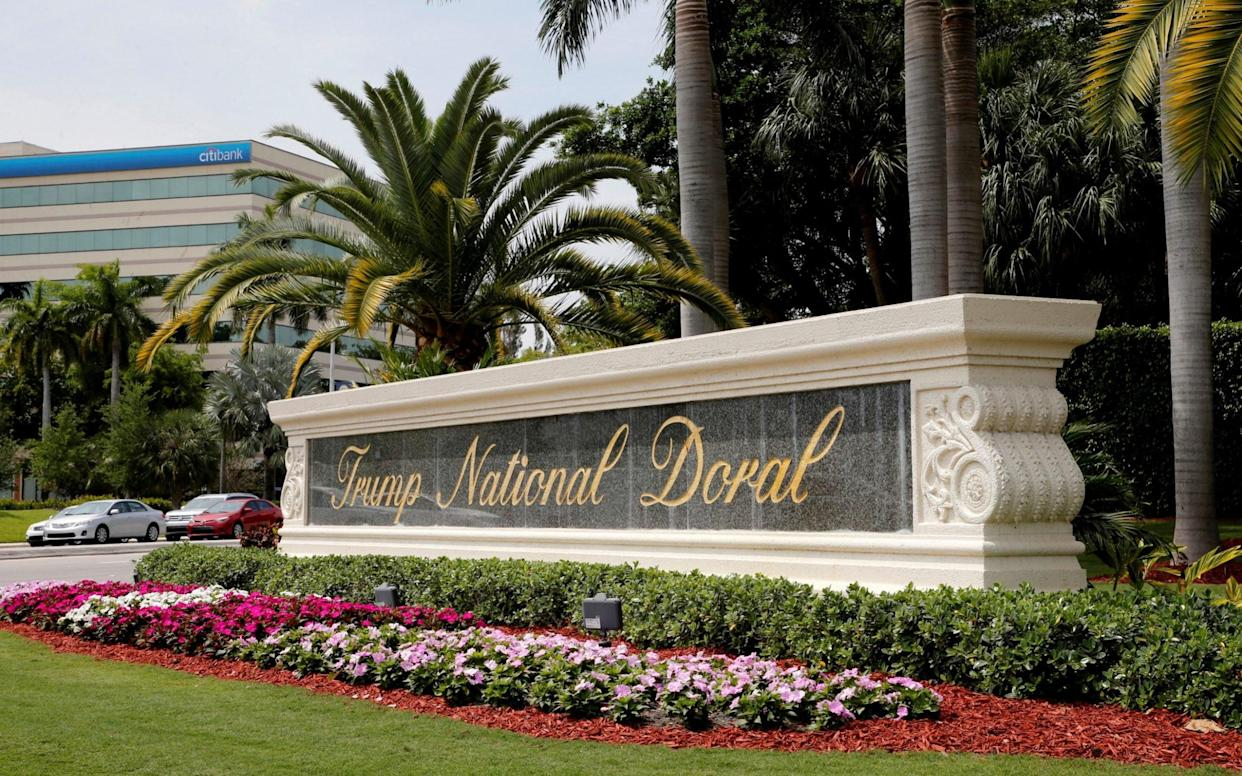 The Trump National Doral in Florida has seen its profits decline dramatically in recent years - REUTERS