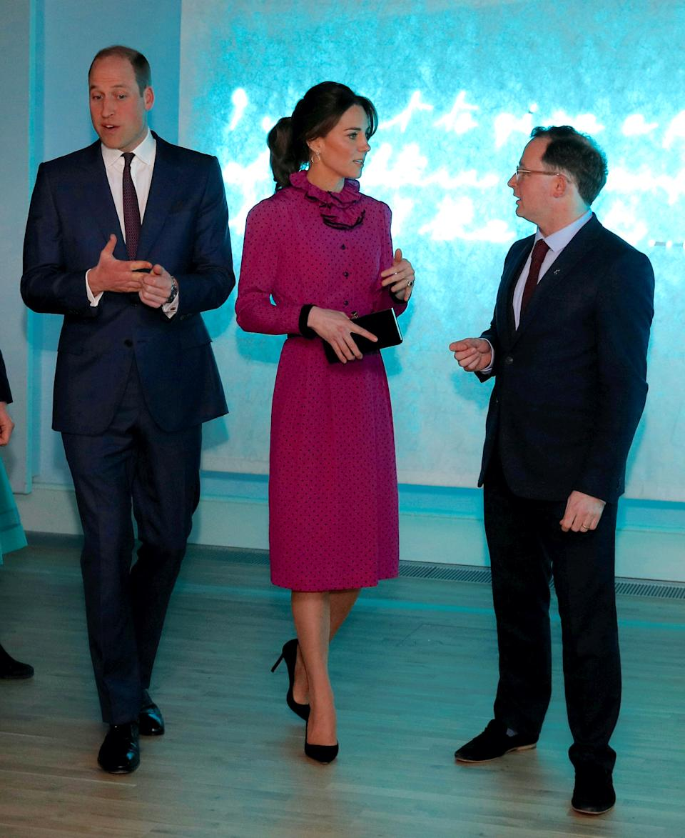 Kate and William attend reception on royal tour of Ireland