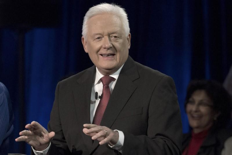 FILE PHOTO: John McFarlane, Chairman of Barclay's, takes part in a panel during the Clinton Global Initiative's annual meeting in New York