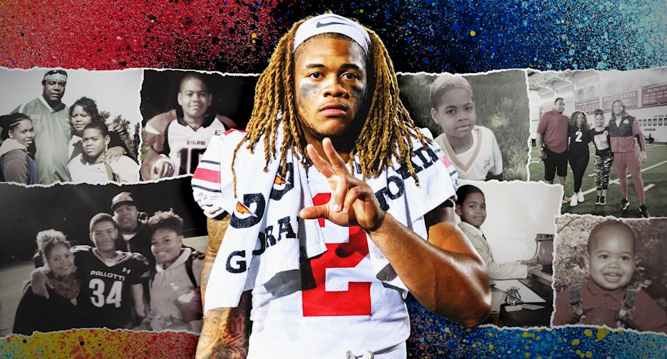 Ohio State star Chase Young has been building up to this moment his whole life. (Yahoo Sports illustration/Photos: Young family)