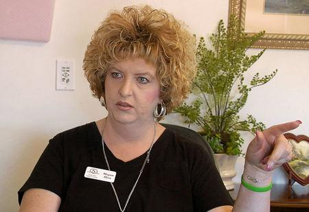 FILE PHOTO:  Megan Hess, owner of Donor Services, is pictured during an interview in Montrose, Colorado, U.S., May 23, 2016 in this still image from video.    REUTERS/Mike Wood/File Photo