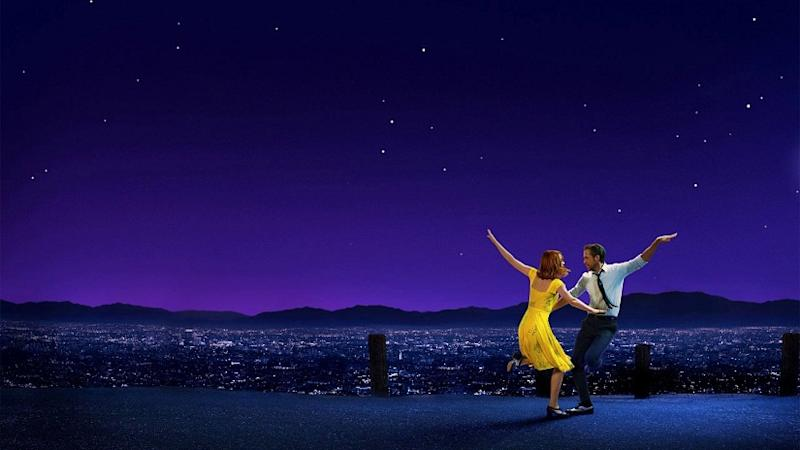 Emma Stone and Ryan Gosling in a still from La La Land