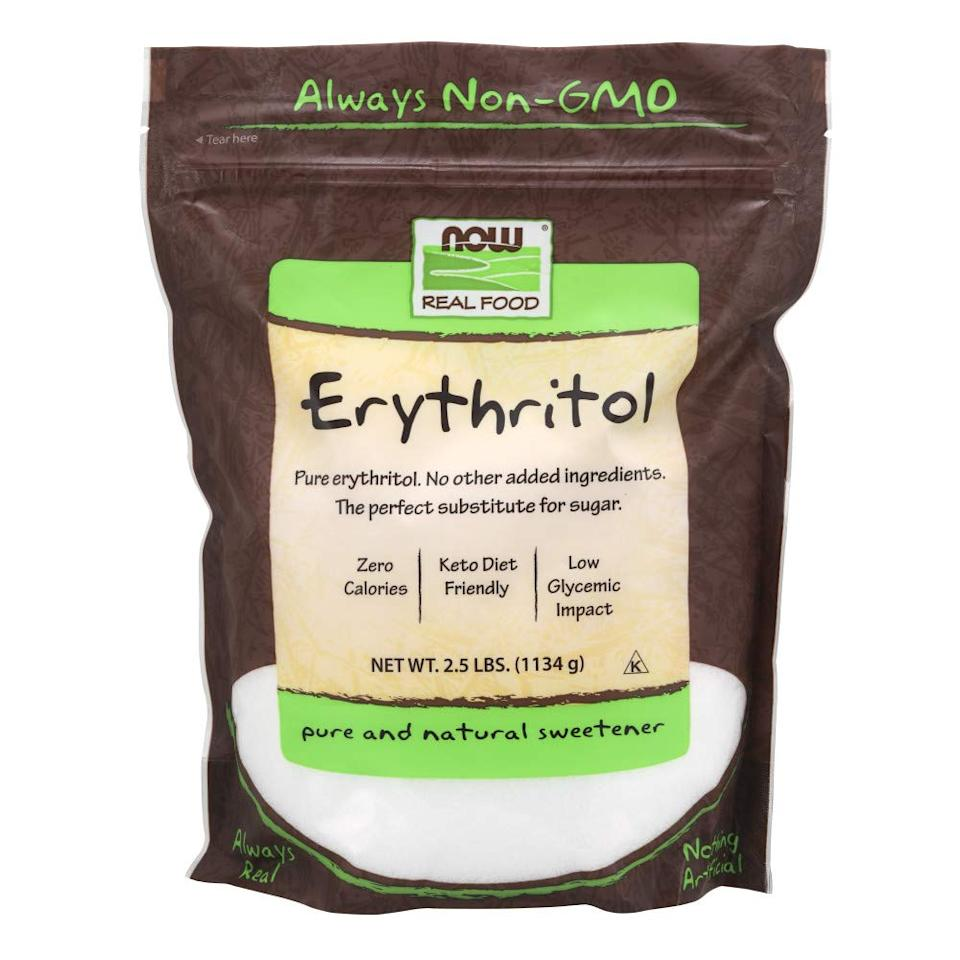 Now Foods, Erythritol sugar substitute. (Photo: Amazon)