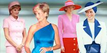 """<p>Princess Diana was famously adored around the world for many things: her love for her sons Prince William and Prince Harry, her tireless dedication to humanitarian work, and of course, her one-of-a-kind style. She was arguably the most photographed woman of the 80s and 90s, and her impact has always lived on with her memory. News outlets and nostalgic Instagram accounts still repost her glittering evening gowns and chic gym outfits to this day, ensuring that her style remains unforgettable.</p><p>Yesterday, July 2, 2021, would have been the Princess of Wales' 60th birthday. To mark the occasion, <a href=""""https://www.redonline.co.uk/red-women/news-in-brief/a36883713/harry-william-diana-statue/"""" rel=""""nofollow noopener"""" target=""""_blank"""" data-ylk=""""slk:Prince William and Prince Harry"""" class=""""link rapid-noclick-resp"""">Prince William and Prince Harry</a> reunited to unveil a statue of their mother in the gardens of Kensington Palace later today. Here, we remember all of her incredible looks from over the years. </p><p>Click through to admire 28 of Princess Diana's most iconic fashion looks:</p>"""