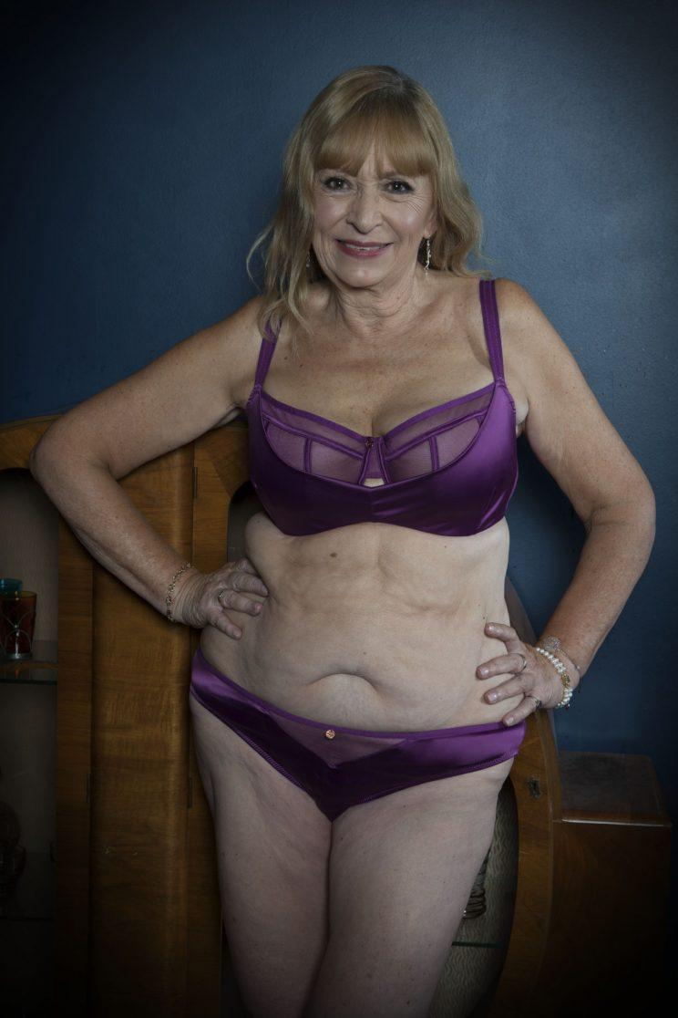 65-year-old Janet proving that age isn't a barrier to beauty [Photo: Curvy Kate]