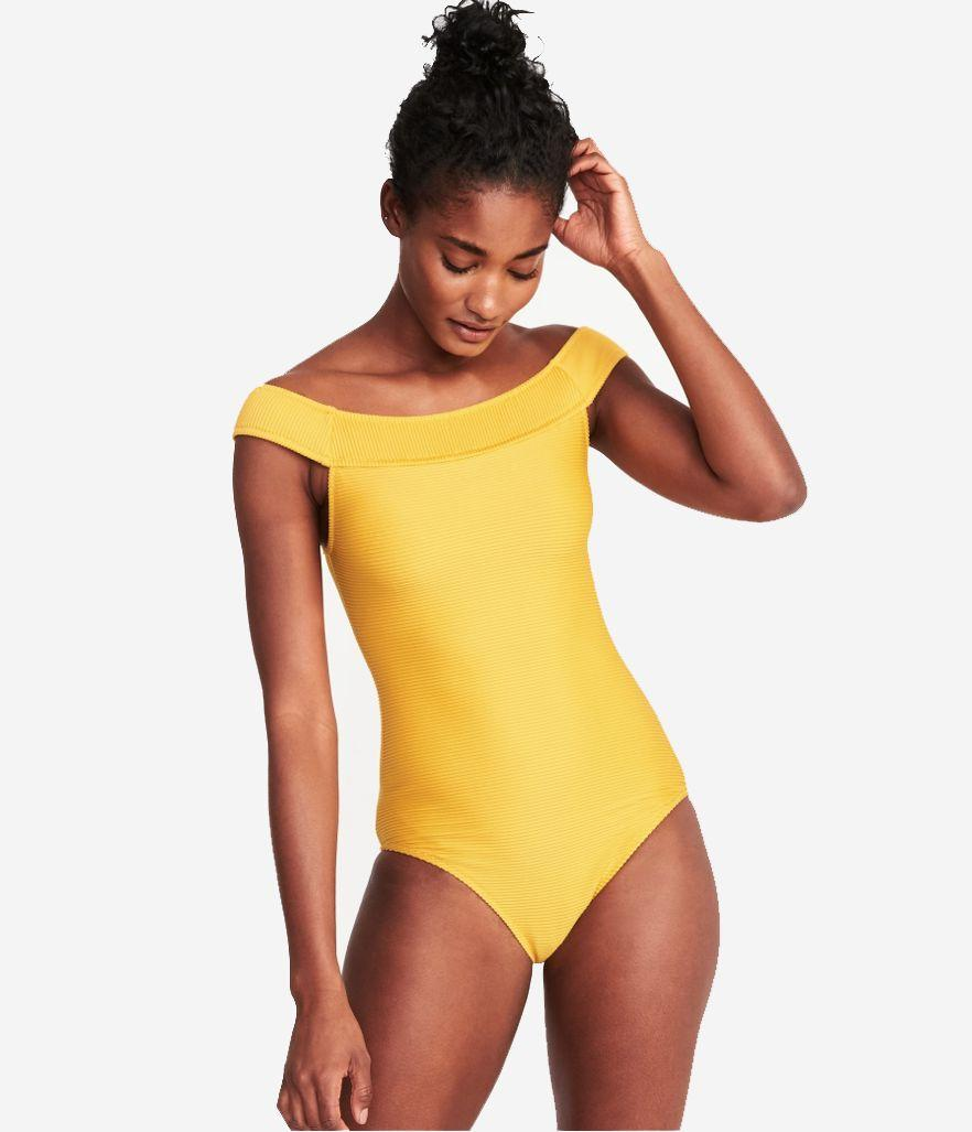 Old Navy Textured Off-the-Shoulder Swimsuit for Women (Photo: Old Navy)