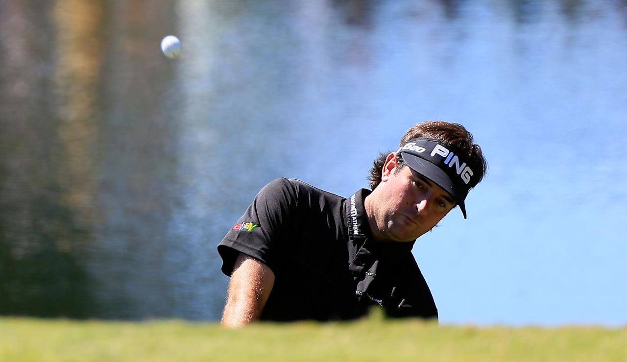 ATLANTA, GA - SEPTEMBER 23:  Bubba Watson plays a shot on the second hole during the final round of the TOUR Championship by Coca-Cola at East Lake Golf Club on September 23, 2012 in Atlanta, Georgia.  (Photo by Sam Greenwood/Getty Images)
