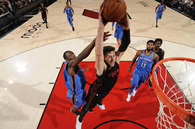 Jusuf Nurkic is a crucial part of what the Blazers are trying to build. (Getty)