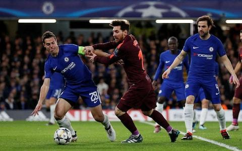 "When it finally came, perhaps ­Chelsea thought that the first goal Lionel Messi would score against them after all those games would be something truly remarkable, one of those moments that defied explanation and could simply be filed away as an act of genius that no mortal could stop. Instead, the first goal Messi scored against Chelsea in nine games and 730 minutes – the 98th of his Champions League career – came from a rank poor pass from Andreas Christensen, the kind of hostage to fortune that might well have been converted by West ­Bromwich Albion. That it came amid one of the most intense, well-drilled Chelsea performances in Europe of recent years was Antonio Conte's misfortune – of all the club's meetings with Barcelona in recent ­history and it had to be his. At the point Messi scored, 75 minutes into a classic Champions League tie, Barcelona had enjoyed around 75 per cent of the possession and zero per cent of the goals – the tie itself was tipped marginally in favour of the home team by virtue of a second-half Willian strike. Conte's team had played ­Barcelona off the back foot, but they had played them brilliantly and Messi himself had not been ­afforded enough of the space he usually seeks out. When the equaliser came, it felt like a gift. There are so many ways in which Messi and Barcelona can break the hearts of their opponents and perhaps they would have done so anyway at the Nou Camp on March 14, regardless of what might have been achieved by Chelsea in this home leg. But this magnificent team, unbeaten in their domestic league this season, do not need any assistance to score a goal and, unfortunately, that was what Chelsea's young Danish defender gave them. Barcelona players gather around Messi Credit: Getty Images Messi celebrated with the vehemence of a man who seemed to know that was one small kink ironed out of the great history he has written, and you could sense the deflation among the home support. ""If you make mistakes against opponents like Messi and Andres Iniesta, you pay,"" Conte said later. The Chelsea manager rightly ­refused to blame Christensen, ­arguing that it was a fine balance at all times between youth and experience, to try to find the right players to carry out his game plan. He was so close to getting it right, including the decision to drop Gary Cahill in favour of Christensen, and there was still a spark of hope in Conte afterwards that his team can reach the quarter-finals, however difficult it might be. Certainly the form of Willian suggests he is reaching top gear with a brilliant, brave performance in which he carried the fight to Barca at all times. This was not a night for attacking players to stand around with their hands on their hips complaining about lack of service and so Willian worked hard for every chance, struck a post twice in the first half and buried his chance with the one decent sight of goal that he was afforded. He had looked impressive against Hull City in the FA Cup on Friday, but it is one thing doing it against the Championship strugglers and another stepping it up against Barcelona. For a start, Hull had 18 per cent more possession than Chelsea managed against ­Barcelona in this first leg. Possession: Chelsea vs Barcelona That was always going to be a problem and there were periods of the first half when Chelsea had to adjust to life without the ball. Barcelona finished with around 73 per cent of possession over the 90 minutes – depending on whose statistics you read – and yet by the end Conte's players had adapted well to a new way of playing that involved Willian and Eden Hazard breaking on their opposition. They tried to get out quickly and switch the play when possible, with Antonio Rudiger on the left side of the defence often looking to hit a long diagonal in the direction of Victor Moses on the right wing. Sergio Busquets and Ivan Rakitic pulled the strings for Barcelona from deep midfield, but they did so at a safe distance as far as Chelsea were concerned. Rakitic rode his luck in the first half after an early booking for a foul on Willian and two challenges after that which could have got him in trouble. Messi was in captivating form, dribbling past players at will Credit: GETTY IMAGES As for Messi, we were treated to a few moments in the first half when he spun and ran at Chelsea, and one glorious feint which had Rudiger standing on the wrong foot as the great man glided past him. Messi is at the stage of his career when the reverence for him in the opposition is unmistakable, and there are few on the pitch who can recall a time when he was not the king – even if on this occasion his goal was among the easier ones he has scored. The Barcelona possession count edged up past 80 per cent during the first half, with Conte urging his side forward, encouraging them to put pressure on the away team's back four. Hazard dragged Barcelona's defence left after 33 minutes and then Willian took the ball in space in the middle and hit a right-footed shot against Marc-Andre ter Stegen's left post. He clipped the other post eight minutes later. Chelsea vs Barcelona shots on goal The rehabilitated Tottenham Hotspur old boy Paulinho had a quiet night, eventually substituted having headed wide a cross from Messi after 15 minutes. N'Golo Kante covered the breadth of the pitch and he was a formidable barrier against Barcelona, who were arguably at their least dangerous when they were attacking corners. It was from a Barcelona corner, claimed by Thibaut Courtois, that the Willian goal began. The Chelsea goalkeeper dropped the ball quickly at the feet of Cesc Fabregas, from where it went left to Hazard, right to Willian and, ­eventually, Chelsea's corner was won on the left side. Chelsea 1 - 0 Barcelona (Willian, 62 min) Hazard spotted Willian outside the Barcelona area in a promising amount of space, and the Brazilian stepped past Busquets to shape a right-footed shot inside Ter ­Stegen's left post. Before the Barcelona equaliser Chelsea might have had a second when Willian broke down the right and elected not to pass to his ­unlikely breakaway partner, Kante. From Christensen's ill-advised pass across the face of his goal that Cesar Azpilicueta was just inches from reaching, Iniesta created the goal for Messi. In that moment the tie changed, and it had taken only one slip of concentration. 10:11PM Player ratings I loved Busquets, Messi and Willian this evening. But my opinion matters not! Behold: our official player ratings for the game this evening. Chelsea vs Barcelona player ratings 10:03PM Antonio Conte post-match ""I think that (sighs) that we were very close to a perfect game, only one mistake, and when you make a mistake against Barcelona you to pay. It's a pity because I'm very proud of my players, they followed what we prepared, and it's a pity. We were a bit unlucky. ""I think when you to play this game you must have a plan, respect the opponent and understand the best way to face this team. Our plan was really good, the effort of the players was great. Maybe we deserved more tonight. ""I think in the second leg we have to play a game against Barcelona. As you know this team is very strong but the final result... yeh the qualification is open. It's not simple but our performance must give confidence to try to do something of credible."" 9:50PM Cesc and Willian Fabregas ""Such a shame really. We were very good, went with a game plan and executed it very well. They are one of the best teams in the world but we played so well. Overall fantastic performance, in the end, shame. We should be proud but i think even 1-0, 2-0 would have been fantastic but at the Nou Camp they are very strong. We will have to play another excellent game to go through. ""90 minutes at the Camp Nou defending is basically a suicide mission."" Willian ""I'm happy with the goal but a little bit sad with the result. I think we deserve to win. They had more possession but we had chance to score. ""We were a bit unlucky. We look forward to the other games."" 9:39PM FULL TIME Chelsea punished by Lionel Messi, the greatest football in the known universe, after playing a near-perfect defensive 90 minutes. That away goal could, and likely will prove crucial. As for the individual stars: Hazard was excellent for Chelsea but Messi is on a different level. Willian caught the eye too - after a performance like that it's amazing that he starts so many games on the bench. 9:36PM 90 mins +3 Morata is penalised for handball when it looked more like he'd just swung a leg at the thing and gotten away with a bad touch. He briefly considers shouting about it and then remembers that he's already on a yellow card. A yellow card for shouting about something. 9:33PM 90 mins +1 Busquets trips Hazard with a cynical foul and is booked. 9:32PM 90 mins Incredibly, against all odds, Suarez and Alba are both fine to continue. 9:31PM 89 mins Alba pulls off a lovely little bit of skill and has his heel clipped. Suarez is tackled by Drinkwater. Both are rolling around the floor in mortal danger. Somebody please pray for these wounded soldiers. [/sarcasm] 9:29PM 87 mins Hazard wins a free-kick 30 yards out. Willian will put it into the area. Or will he?! No. Because he passes short to Hazard, who goes back to Willian, who finds Moses. Moses hacks at his shot and puts it straight out for a goal kick. Morata is booked for dissent, convinced it should be a corner. 9:27PM 85 mins Fabregas off for Drinkwater. That makes sense to put some energy in the midfield for the final few minutes - Chelsea cannot afford to concede another away goal! Possession: Chelsea vs Barcelona 9:25PM 83 mins Chelsea vs Barcelona Umtiti gives away a corner after Willian bursts forward at high speed on the counter-attack. It's taken quickly but Christensen's header back across the box doesn't find a teammate. Pedro off, Morata on for Chelsea. 9:24PM 81 mins Rudiger puts a heavy challenge on Roberto, putting his foot over the top of the ball into Roberto's standing leg with full force while the Barcelona player was running at full pace. That could so easily have ended horribly. Instead, Rudiger is booked and Busquets tells him off. That's about it. Roberto is fine to continue. 9:22PM 79 mins Suarez was booked in the aftermath of that goal for moaning about not being given a penalty before it. He had his heels clipped accidentally by Rudiger while running into the box, and threw himself to the ground immediately. Boooooo. 9:20PM GOOOOOOOOOOAAAAAAAALLLLLLLLL! Messi scores It's the first real mistake Chelsea have made all game and they've been punished! Christensen passes across his own defensive third, misses everyone and Iniesta runs onto it and has the chance to shoot... but passes back across to Messi, who sends Courtois the wrong way and finishes into the bottom corner. Chelsea 1 - 1 Barcelona (Lionel Messi, 75 min) 9:17PM 74 mins Credit: REUTERS Chelsea have a break on! Barcelona just cannot find space in behind to pass and are being forced to ping the ball about in front of two walls of Chelsea defenders. 9:15PM 72 mins Dembele is warming up on the touchline. Willian has to get more treatment on his bleeding face. 9:13PM 70 mins All of a sudden it looks like Chelsea might have men over on the counter-attack. Willian takes a half second too long to play a pass into the box - if he had done, Kante was one on one with the goalkeeper. Willian goes down to receive some treatment for a bleeding nose. And when I say treatment I mean sitting down with some tissues. 9:10PM 67 mins Messi is conducting play from a position between the Chelsea and defence, spraying passes around. Barcelona up the tempo of their passing. Messi gets the ball on the edge of the area and about three defenders follow him instantly to stop the shot. A stop-start doesn't fool them... Chelsea block. 9:07PM 65 mins Paulinho off, Aleix Vidal on. That should give Barca a little more on the right wing and let Roberto take up more central positions. 9:07PM GOOOOOOOOAAAAAAAAAAAAAAAAAALLLLLL! Willian goal Brilliant from Willian! The corner is taken quickly, Fabregas finds Hazard, who ducks inside and passes to Willian. He stops then starts and out of nothing, has space to shoot. A hard, low shot curls into the bottom corner - Ter Stegen had no chance! Chelsea 1 - 0 Barcelona (Willian, 62 min) 9:04PM 62 mins Messi finds Iniesta, who scoops the ball over the defence into the path of Alba's run. Moses cuts it out but accidentally heads behind and it's a corner again.... but Courtois catches easily. He looks long again and this time Hazard can control. Chelsea move up the pitch... take their time and work passes around the final third. Fabregas takes a half chance to shoot and conjures a corner from very little. 9:02PM 60 mins Courtois catches the corner, kicks the ball long looking for Hazard... and Barcelona have the ball again. 9:02PM 59 mins Suarez gets involved, takes a pass form Iniesta (after a frankly ridiculous first touch took iniesta past a tackle) and bursts away to the left of the box, He turns back and then Cruyff turns Christensen, winning space to cross into the middle. Corner. 9:00PM 56 mins Chelsea keeping things tight but they just cannot keep hold of the ball. Possession: Chelsea vs Barcelona 8:57PM 53 mins Credit: GETY IMAGES Morata is warming up on the sidelines. Barcelona enjoying most of the possession... Iniesta chases a loose ball now and finds Suarez. He runs in behind and shoots from a wide angle... saved by Courtois! That was a superb effort considering where he took it on! Attempt Saved: Chelsea 0 - 0 Barcelona (Luis Suárez, 53 min) 8:54PM 51 mins Great defending from Chelsea. Pedro tracks back to stop Messi turning everyone inside out, Paulinho blocks him, Fabregas tidies up and they work the ball forward. Hazard has his back to goal in the penalty area and goes down! Umtiti is tight to him... is that a penalty? The referee isn't interested. 8:52PM 49 mins Iniesta works hard by the Chelsea box to try and link the play but Azpilicueta is superb at the back and holds him off. He's playing further forward in this half and gets onto the ball again shortly after, deciding to lash a shot from distant at goal but slicing it way wide and high. 8:50PM 47 mins Barcelona start the second half the same way as the first, passing around the back. They get into Chelsea's half more urgently though and Roberto over hits a cross from wide right, which very nearly turns into a shot to the top corner! 8:48PM KICK OFF 2 chelsea kick off 2 We're back! How long until the deadlock is broken? Will it? Nobody knows! 8:44PM Chelsea staying nice and compact Chelsea are making the pitch as small as possible when defending and forcing Barcelona to pass around the final third from side to side looking for an opening. The danger is that at some point soon Messi or Iniesta are going to figure out a way to get a shot or through-ball away and the defence needs to be constantly aware as Messi in particular drifts from man to man. Both teams have defended pretty well and restricted the other to creating chances from quick turnovers. Willian's two shots were superb efforts but you can't plan to score from 25 yards against anyone, it's a welcome addition to the scoreline but generally, teams win games when they get the ball into the box for shots. I can see Conte bringing on one of his strikers after the 60th minute to offer an out ball and let Willian and Hazard run off him. It'll just take Barcelona to overcommit and a quick counter-attack could yield that one vital opening to score on the break. 8:32PM HALF TIME That's been ace to watch. Chelsea backed off until they felt a bit safer coming out of their hiding place and now it's finely poised. Hazard, Willian, Busquets and Messi have all been fantastic. 8:31PM 45 mins Stamford Bridge is noisy and Chelsea are growing into the match. Chelsea vs Barcelona shots on goal 8:29PM 43 mins Willian must have thought both of those strikes were goals the minute they left his boot. He's hit them both so well, (almost) perfect technique and then had to see the ball clang off the frame of goal. Hazard tries a powerful improvised volley from distance but fires over the bar. 8:27PM 41 mins Conte is still living the game through his players, yelling ""GO GO GO!"" to the forwards closest to him to make them run run run run run and close down Barcelona's defenders on the ball. Willian turns on the spot on the edge of the D as the ball falls to him and fires a shot at goal! OFF THE POST AGAIN! 8:25PM 39 mins Moses gives away a corner, it's hooked into the six yard box... and Pique jumps early, Rudiger seems to slip and then seems to grab Pique to stop himself falling. It's either that, or the gravity directly below Pique suddenly got really strong all of a sudden. 8:24PM 37 mins Barcelona are doubling up on Hazard whenever he gets on the ball, which seems like a fairly sensible plan. Both number 10s are the focal points of the attacks. Average touch positions (36 min) 8:21PM 35 mins Credit: PA Conte wants advantage to be played just as Chelsea have a decent counter-attacking chance on at the half way line and is furious that it isn't. 8:20PM 33 mins Busquets is such a great player. I won't go into the cliche but he's always in the right position to keep Barca's shape. Hazard comes away with the ball! Defenders race back to deal with him... he faces up, feints, and finds Willian. Willian takes the ball on and then bursts with pace to win some pace 20 yards out and SHOOOOOTS! OFF THE POST! What an effort! Post: Chelsea 0 - 0 Barcelona (Willian, 33 min) So unlucky for Willian! 8:17PM 31 mins Alonso steps up... and Ter Stegen saves relatively easily, diving to his left and catching at waist-height. Possession: Chelsea vs Barcelona 8:16PM 30 mins A beautiful flick from Willian nearly puts Pedro through on goal but Pique and Umtiti can pass out from the back. Conte is on his feet barking pressing instructions at the front three. And Willian is on the run! He skips past a challenge and has space to move into, Alonso is free on the left! It's a big chance! But Rakitic takes one for the team and fouls Willian about 25 yards out. This is an excellent free-kick position. 8:13PM 27 mins Barca have all the possession at the moment. Chelsea have dropped really deep towards their own goal, Barca pressing high to win the ball back on the rare occasions they don't have it. 8:11PM 24 mins Messi finds Iniesta with an unbelievable pass through the narrowest of gaps on the edge of the Chelsea area, the ball comes back across the box and Messi is just a fraction of a second behind it. Chelsea survive again! 8:08PM 22 mins Christensen's touch lets him down and he passes the ball straight out of play while looking for Azpilicueta, handing Barcelona a cheap corner. Rakitic goes short to Messi, who finds Rakitic again... and Pique's chip into the box is dealt with. Barcelona keep up the pressure in Chelsea's half. 8:06PM 20 mins Messi is seeing so much of the ball tonight. He's roaming around wherever he fancies it and is finding space all over. Barcelona's full-backs are tucking inside the pitch as they come forward, Paulinho going wide. Or at least that's what's happening when Roberto comes inside. 8:03PM 17 mins HUGE CHANCE! Paulinho misses from 12 yards as Messi finds space and chips into the area for the Brazilian to attack. He puts his head through the ball trying to put it back across goal but clumsily thumps it into the advertising boards wide of the goal. Miss: Chelsea 0 - 0 Barcelona (Paulinho, 16 min) 8:00PM 15 mins This is promising for Chelsea! Hazard pulls out to the left, skins Roberto and darts inside the penalty area. His pull-back to Kante comes off the Frenchman's arm and Barca win a free-kick. Rudiger has been told to look for that diagonal pass out from the back but doesn't impress so much with his latest effort. Possession: Chelsea vs Barcelona 7:58PM 12 mins Credit: REUTERS Messi is taking up positions behind the striker like it's a 4-4-1-1. He's finding space between the lines of defence and midfield and is able to pick up the ball and run at goal by doing so. Busquets looks for Messi with a high ball over the top but it's straight out for a goal kick. 7:56PM 10 mins What a ball by Rudiger! He switches play from the left with a long searching pass and Moses wins a corner. All three centre-backs head forwards to attack it... and Rudiger leaps to win the header! Umiti leans into him, Pique is close... but Barca are lucky Rudiger's headed that wide. Messi breaks with the ball, is too fast for Pedro to catch, leaves Rudiger dizzy with a flash of skill and then feeds a pass out wide. The low cross is blocked and Alonso clears. 7:53PM 8 mins Willian dribbles through the middle and Alba blocks him, sending him tumbling to the floor. Free-kick about 30 yards out. Fabregas chips in... but it's headed away by the first man. 7:52PM 6 mins Chelsea pass around the Barca box, Hazard takes a touch and then springs to life before launching a shot on his left foot from 20 yards! It fizzes over the bar! Great effort. Miss: Chelsea 0 - 0 Barcelona (Eden Hazard, 5 min) 7:50PM 5 mins Chelsea have the chance to break! Messi is tackled by Azpilicueta with a strong sliding tackle and Willian carries the ball. Hazard is slightly ahead of him... but Barca defend well and absorb the brief spell of pressure. 7:49PM 3 mins Barcelona have the ball early on and pass it around for a bit. Barca are in a 4-4-2 at the moment, Chelsea a clear 3-4-3. Messi gets his first touch on the ball, plays a one-two and chips a dangerous cross from the left after darting in behind the defence. 7:46PM KICK OFF Chelsea kick-off And they're off! 7:43PM Here come the players! 7:37PM Lionel Messi back in 2005 That's his profile from Football Manager 2005. He turned out to be fairly decent even back then and was one of the famous 'wonderkids' who actually went on to fulfill at least some of the high potential their scouts had awarded. Now we get to see him on TV. Against Chelsea! I can confirm from personal experience that watching him play in real life is one of the most rewarding, electrifying experiences you can have. The entire crowd gets a buzz whenever he receives the ball, you can feel it on the back of your neck. Credit: REUTERS 7:32PM Messi can check another team off his list tonight The 12 teams Leo Messi has never scored against ���� Gramenet ���� Udinese ���� Cadiz ���� Real Murcia ���� Al Sadd ���� Girona �������������� Liverpool ���� Benfica ���� Xerez ���� Inter Milan ���� Rubin Kazan �������������� Chelsea pic.twitter.com/FdvHBci0KQ— 101 Great Goals (@101greatgoals) February 20, 2018 7:28PM Remember this? The Don Andres Iniesta returns to the Stamford Bridge this week pic.twitter.com/wbhrJP7Prp— The Pep (@GuardiolaTweets) February 18, 2018 7:28PM Hazard wants to star Credit: REUTERS Matt Law wrote about Hazard yesterday for Telegraph Sport, here's what the Belgian had to say: ""Every game I try and play my best football,"" said Hazard. ""Last year we didn't play Champions League, but this year we are back and I played a few good games: Atletico Madrid away, Roma, here against Madrid. You want to shine when you play the best in the world. If I want to reach that level, I need to play a great game."" 7:21PM Rio Ferdinand is a big fan of Cesar Azpilicueta The ex-England star says that Azpilicueta is the 'best out and out defender' in the Premier League and he'll have a tough time this evening. Gary Lineker poses the question of how Chelsea cope with Leo Messi, Frank Lampard says going man to man is doomed to fail and Chelsea will tell their players to keep their shape and the closest to Messi has to ""get tight, keep his head down and don't let him think he can do what he wants or the magic wand comes out"". Lineker says ""that's exactly what we were told for England against Maradona in 1986. It didn't work."" 6:50PM Chelsea starting lineup No Giroud or Morata! Hazard starts as a false-nine/trequartista type role. Team to face Barcelona: Courtois; Azpilicueta (c), Christensen, Rudiger; Moses, Kante, Fabregas, Alonso; Willian, Hazard, Pedro. Subs: Caballero, Cahill, Zappacosta, Drinkwater, Hudson-Odoi, Giroud, Morata. #CHEBARpic.twitter.com/lzHoGYN626— Chelsea FC (@ChelseaFC) February 20, 2018 Courtois; Rudiger, Christensen, Azpilicueta, Moses, Fabregas, Kante, Alonso, Willian, Hazard, Pedro 6:42PM Barcelona starting lineup Barcelona ⚽️ Starting XI ���� #ChelseaBarçapic.twitter.com/XaBBne5N3s— FC Barcelona (@FCBarcelona) February 20, 2018 Ter Stegen; Sergi Roberto, Piqué, Umtiti, Jordi Alba; Rakitic, Busquets, Iniesta; Paulinho; Luis Suárez, Messi 6:23PM Good evening! Hello and welcome to our liveblog for this thoroughly exciting Champions League tie between two old foes of the very modern competition. It's Messi vs... Chelsea and we're liveblogging the whole thing right here, right now, onto your phones and tablets and computers. Forget that kid from the Apple advert, we know what computers are and you can use yours to read analysis and updates as we build up to, and follow, the action tonight. But what sort of action shall we see? Ali Tweedale wrote this excellent tactical preview of the match and I suggest you start your evening there: Chelsea beware: Why this version of Barcelona are so dangerous Team news should be in very shortly but it's expected all your favourites will be there: Messi, Hazard, Squirtle, He-Man, Jordi Alba - the whole gang! Fans are already making their way inside the stadium on a rather pleasant London evening, and both teams are in decent enough form (Barcelona especially!). The match promises to be great viewing. And as we all know, matches can't lie."