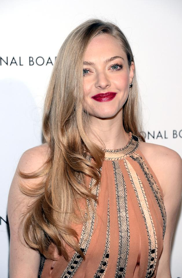 NEW YORK, NY - JANUARY 08:  Actress Amanda Seyfried attends the 2013 National Board Of Review Awards at Cipriani 42nd Street on January 8, 2013 in New York City.  (Photo by Stephen Lovekin/Getty Images)
