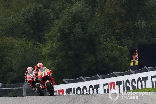"Marc Marquez, Repsol Honda Team, Andrea Dovizioso, Ducati Team <span class=""copyright"">Gold and Goose / LAT Images</span>"