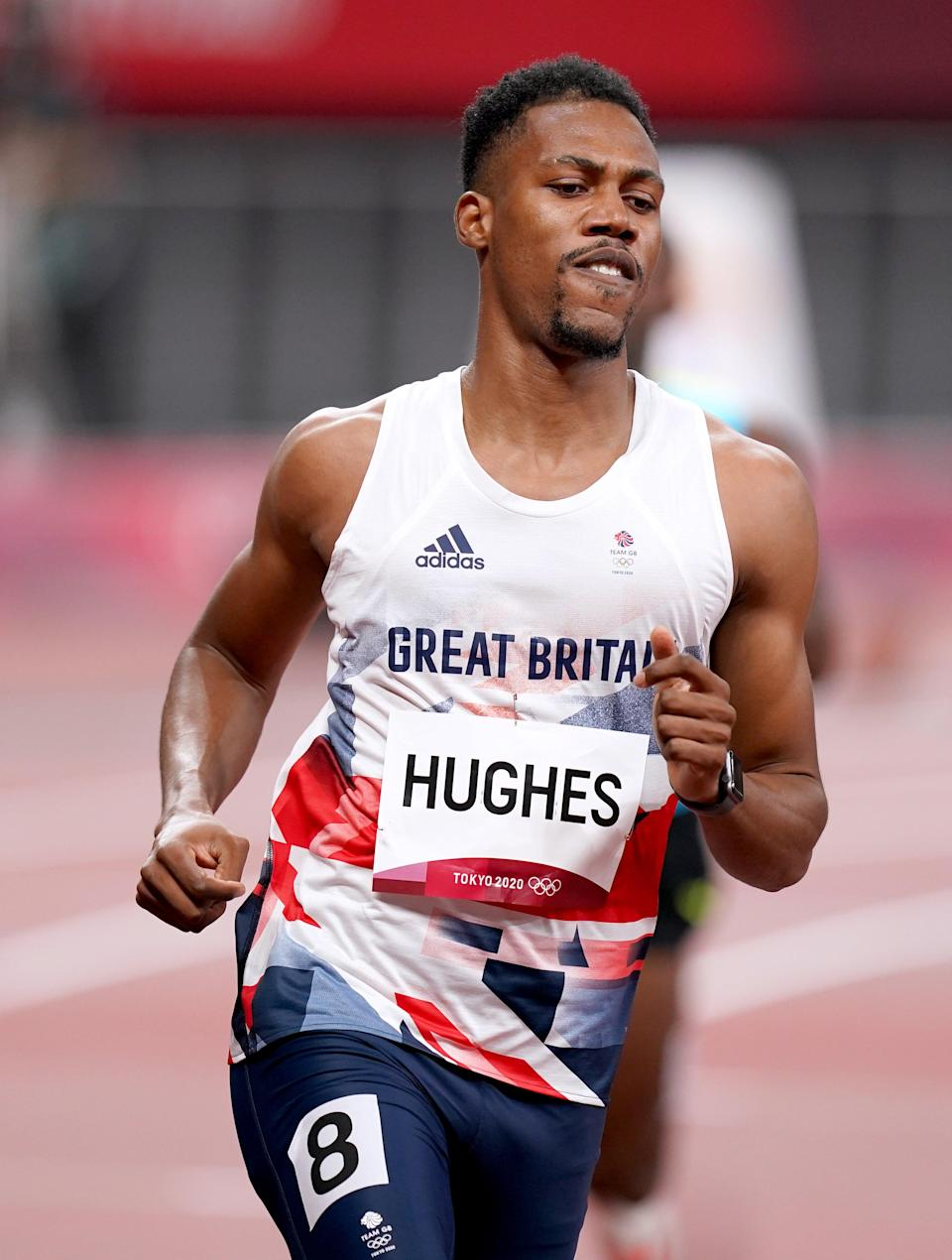 Great Britain's Zharnel Hughes reached the men's 100m semi-finals (Mike Egerton/PA) (PA Wire)