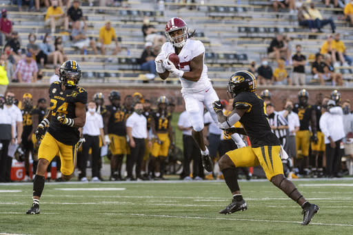 No. 2 Alabama's electric WR Waddle taking on bigger role