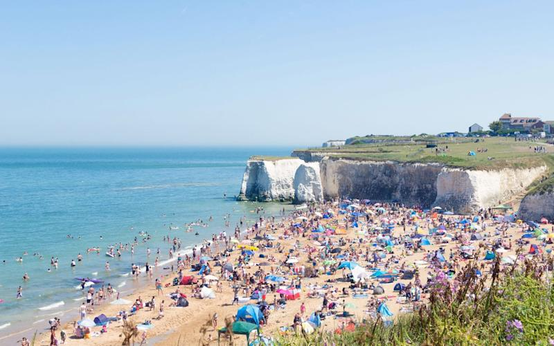 Botany Bay can get very crowded on a hot summer day - GETTY