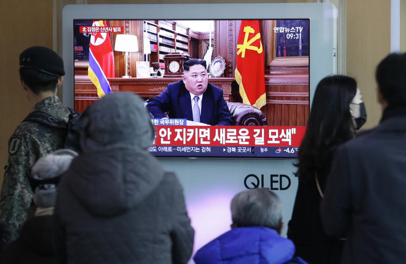 NK leader talks of denuclearization, economic development in New Year address