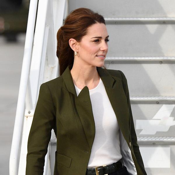 Kate Middleton, The Duchess of Cambridge swapped out the regal dresses, opting for a tailored approach to airport dressing instead.