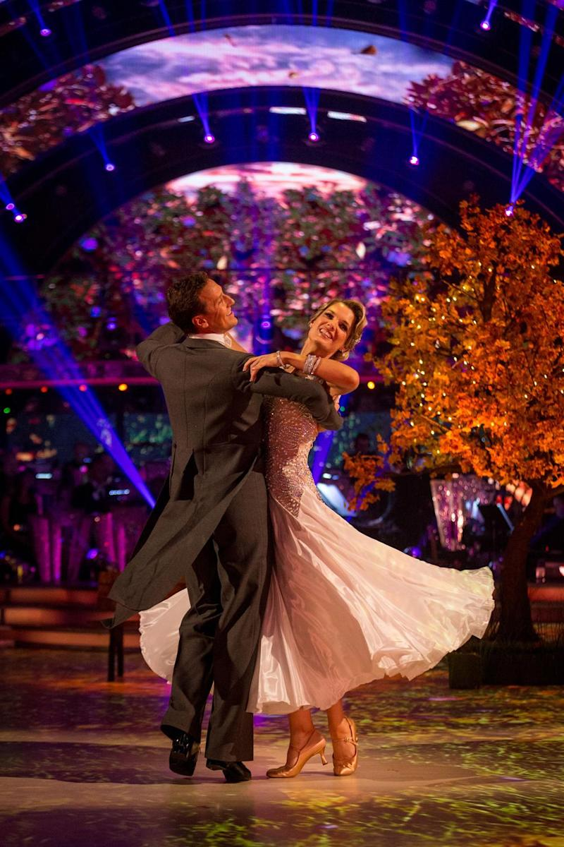 'Promise': Charlotte Hawkins dancing the Waltz with Brendan Cole (BBC/Guy Levy)