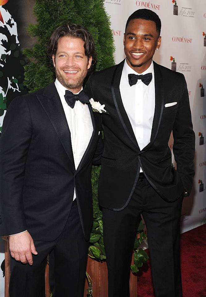 """TV host Nate Berkus (left) and rapper Trey Songz brought a little testosterone to the big event. Dimitrios Kambouris/<a href=""""http://www.wireimage.com"""" target=""""new"""">WireImage.com</a> - May 25, 2011"""