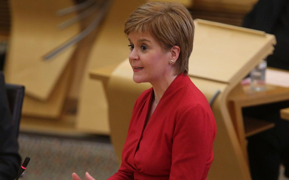 Nicola Sturgeon urged pupils to appeal if they felt they had not been treated fairly - Fraser Bremner/Scottish Daily Mail/PA