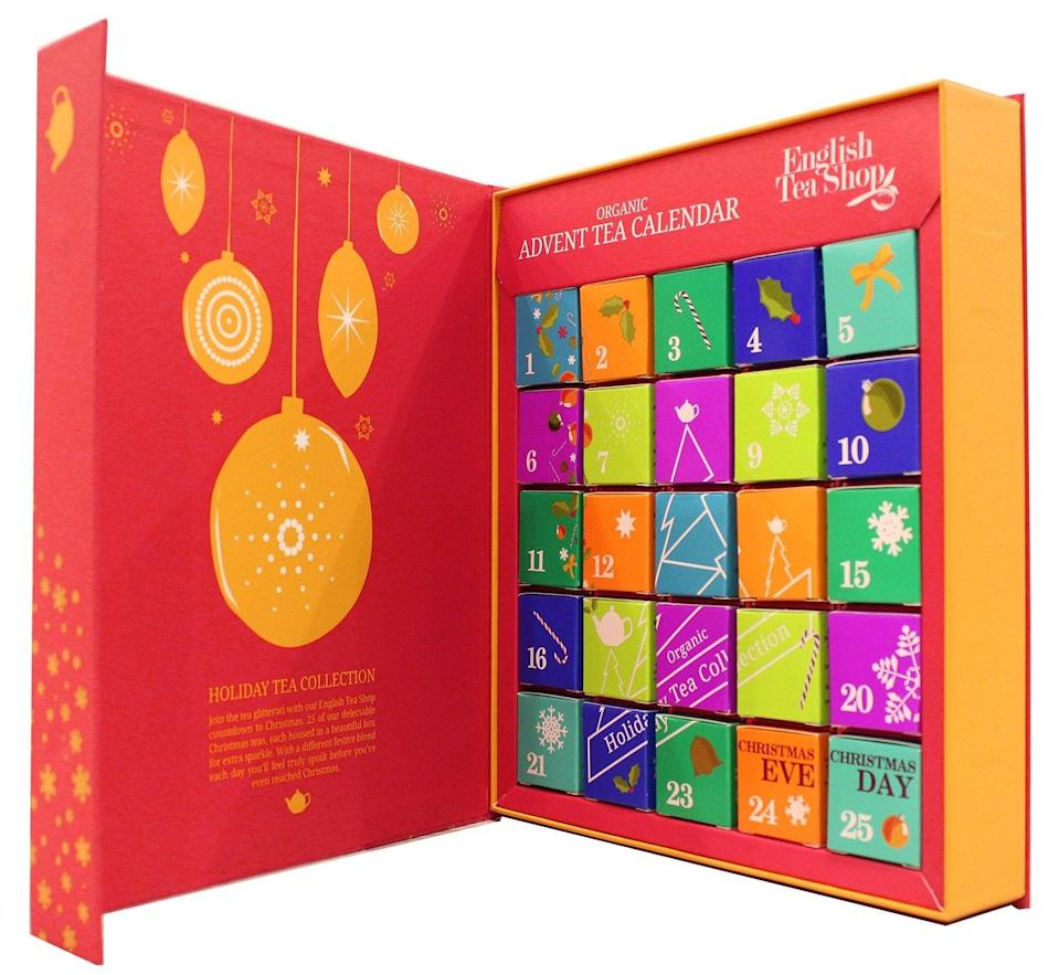 <p>This highly anticipated <span>English Tea Shop Organic Book Style Red Advent Calendar</span> ($39) never disappoints. </p>