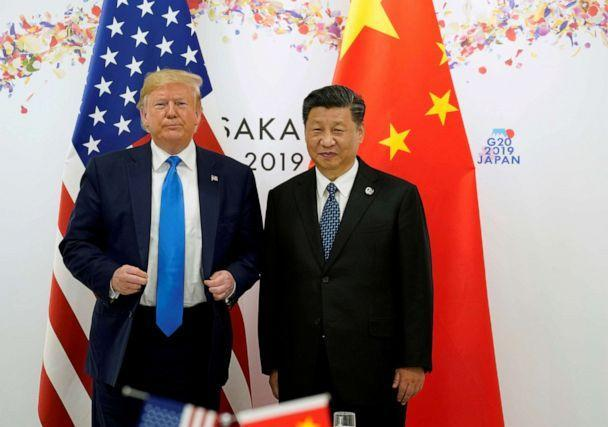 PHOTO: President Donald Trump and China's President Xi Jinping pose for a photo ahead of their bilateral meeting during the G20 leaders summit in Osaka, Japan, June 29, 2019. (Kevin Lamarque/Reuters, FILE)