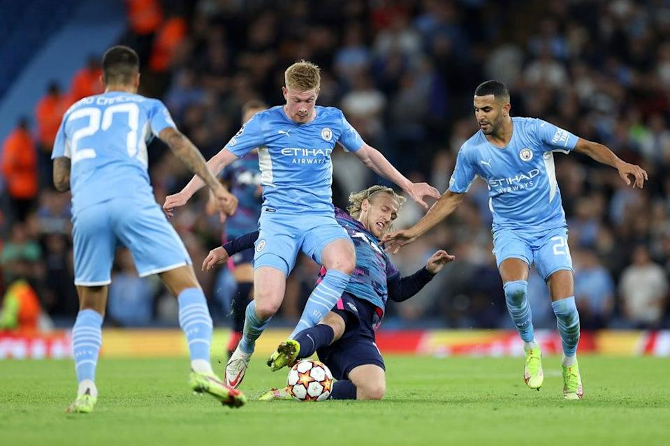 Kevin De Bruyne returned to the starting XI and impressed in midfield. (Getty Images)
