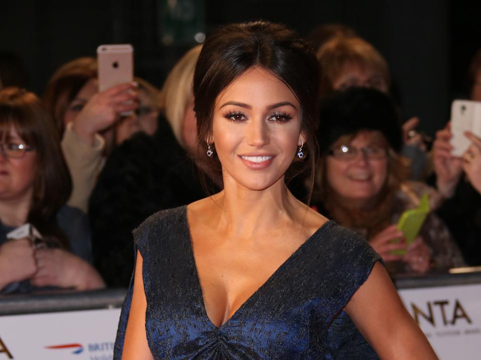 Michelle Keegan poses for photographers upon arrival at the National Television Awards in London, Wednesday, Jan. 20, 2016. (Photo by Joel Ryan/Invision/AP)