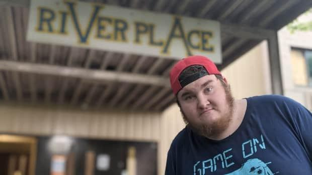Dylan White has been a resident at River Place Residence for three years and says conditions are deplorable.  (Sanjay Maru/CBC - image credit)
