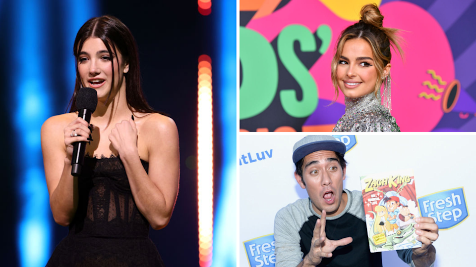 Charli D'Amelio, Addison Rae and Zach King are the most-followed people on TikTok. (Source: Getty)