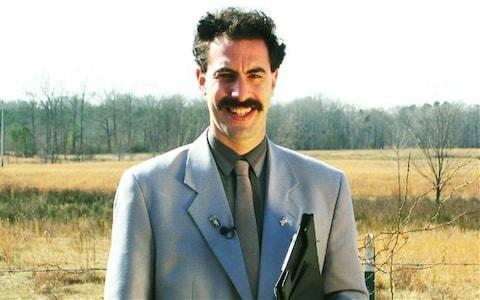 """Borat actor Sacha Baron Cohen has offered to pay fines for six tourists who were arrested for wearing the character's iconic 'mankini'. The group of Czech tourists posed for pictures in Kazakhstan wearing nothing but mankinis, made famous by Mr Baron Cohen's character Borat Sagdiyev, a fictional Kazakh TV presenterwho travels to the US to make a documentary. In the 2006 film, Borat: Cultural Learnings of America for Make Benefit Glorious Nation of Kazakhstan the eponymous character Borat walks around in a lime green mankini, a one-piece swimsuit for men. Baron Cohen in Borat Credit: Rex The group posed for photos in the capital city of Astana but were arrested for minor """"hooliganism"""" and fined 22,500 tenge (£51) each for their """"indecent"""" appearance. """"To my Czech mates who were arrested. Send me your details and proof that it was you, and I'll pay your fine,"""" Mr Baron Cohen wrote on Facebook. Mr Baron Cohen won a Golden Globe award for his film Borat but it was initially banned in Kazakhstan. However in 2012, the country's foreign minister publicly thanked Baron Cohen for boosting tourism in the central Asian state Yerzhan Kazykhanov told politicians: """"With the release of this film, the number of visas issued by Kazakhstan grew tenfold. """"I am grateful to 'Borat' for helping attract tourists to Kazakhstan."""" 'Mankinis' have become so popular since the film was released that in 2012 Newquay, in Cornwall, banned visitors from dressing in the costumes. The seaside town's police force said the thong-like male bathing suits were """"inappropriate"""" clothing. Superintendent Julie Whitmarsh said: """"Mankini is what we term 'offensive clothing', so we won't accept people wearing them. They are just hideous. """"Is it just me, but if you were living in Bath for example, or Bournemouth, is that something you would wear to walk into town on a Saturday afternoon? No."""" The mankini was also been banned at Wembley stadium ahead of a match between England and Kazakhstan."""