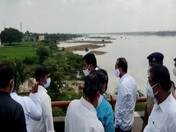Irrigation Minister Dr P Anil Kumar and Finance Minister Buggana Rajendranath inspecting arrangements. (Photo/ANI)