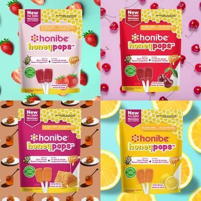Honibe® launches HoneyPops™ the first pure honey throat lollipop for kids (CNW Group/Honibe®)