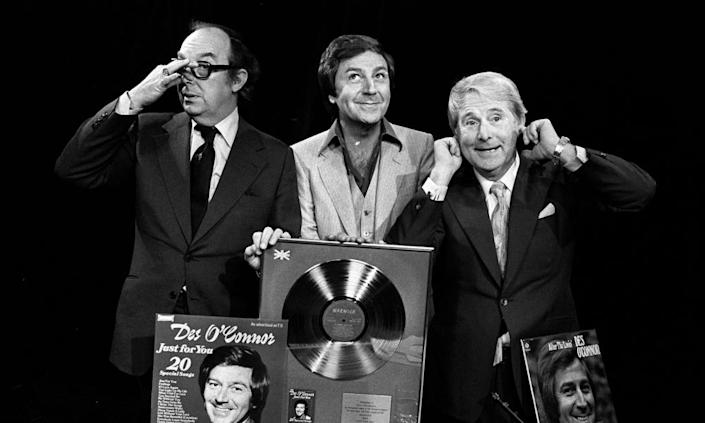 O'Connor with Eric Morecambe and Ernie Wise