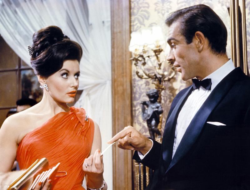 Actress Eunice Gayson, who played the first Bond girl in 007's on-screen debut, died on June 8, 2018 at the age of 90. Gayson is seen here with actor Sean Connery.