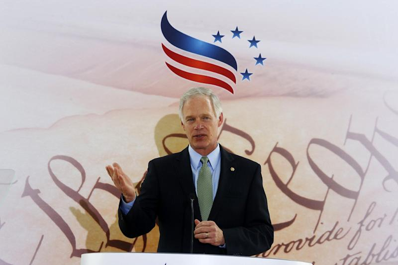 Sen. Ron Johnson, R-Wis. speaks at the Faith and Freedom Coalition Road to Majority Conference in Washington, Thursday, June 13, 2013. The fight for the direction of the Republican Party will be on display Thursday at a Washington conference hosted by the Faith and Freedom Coalition, a group created by former Christian Coalition leader Ralph Reed. Designed to strengthen the evangelical influence in national politics, the conference gives many religious conservative activists their first look at potential 2016 presidential candidates. (AP Photo/Charles Dharapak)