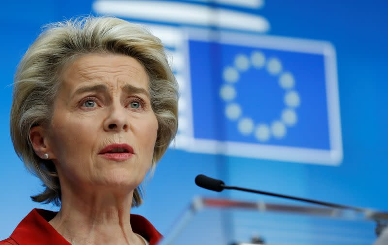 EU leaders hold a virtual conference on measures against COVID-19