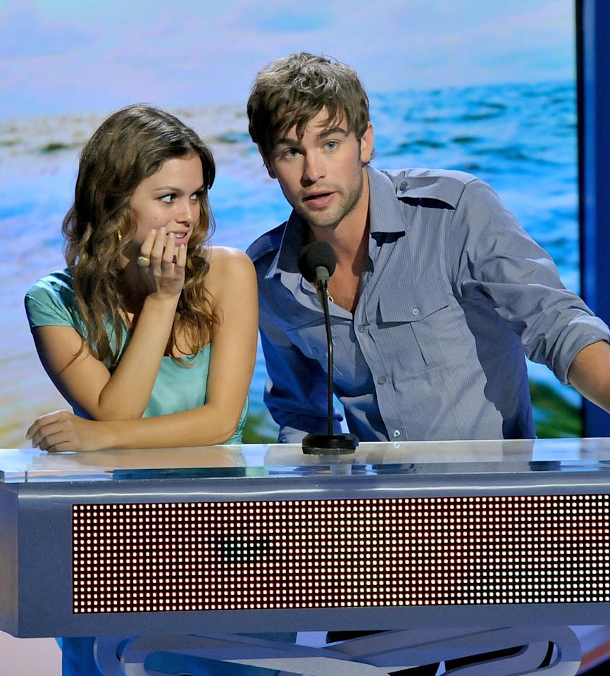 """According to sources, Chace Crawford is a busy man. <i>Life & Style</i> has the """"Gossip Girl"""" star linked to Rachel Bilson after they were spotted """"flirting"""" at dinner in New York, and <i>The Daily Mail</i> reports he and Kelly Osbourne """"have been on a couple of dates."""" Find out how Bilson and Osbourne insiders are reacting to Crawford's two-timing over at <a href=""""http://www.gossipcop.com/chace-crawford-dating-dates-dinner-flirting-rachel-bilson-kelly-osbourne/"""" target=""""new"""">Gossip Cop</a>. L Cohen/TCA 2008/<a href=""""http://www.wireimage.com"""" target=""""new"""">WireImage.com</a> - August 3, 2008"""
