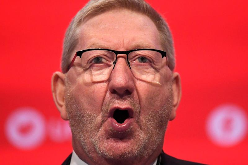 Len McCluskey made the announcement (Reuters)