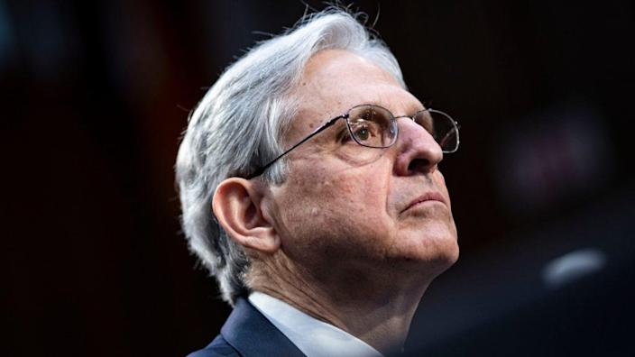 Attorney General nominee Judge Merrick Garland listens during his confirmation hearing last month before the Senate Judiciary Committee. (Photo by Al Drago/Getty Images)