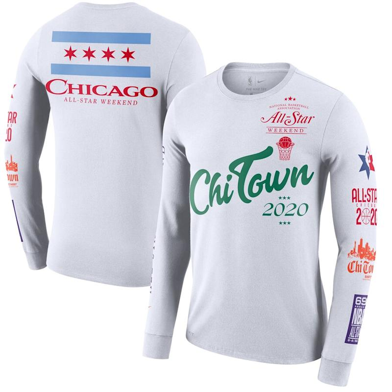 Nike 2020 NBA All-Star Game Chi Town Long Sleeve T-Shirt