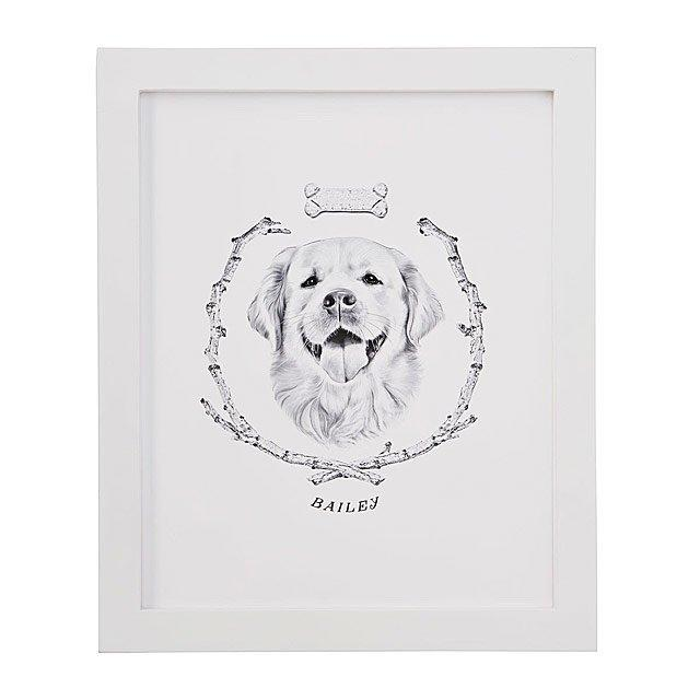 Her royal portrait. (Photo: Uncommon Goods)