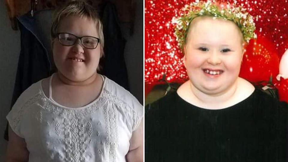 Pictured are two photos of Alexa Rose Veit. Her mother was also diagnosed with Covid-19.