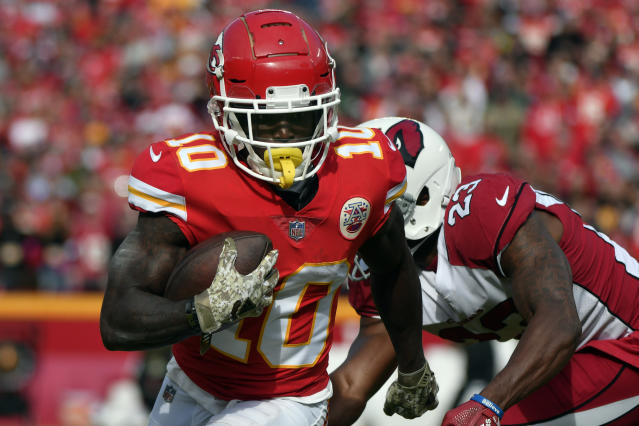 Tyreek Hill is currently suspended from Chiefs team activities. (AP)