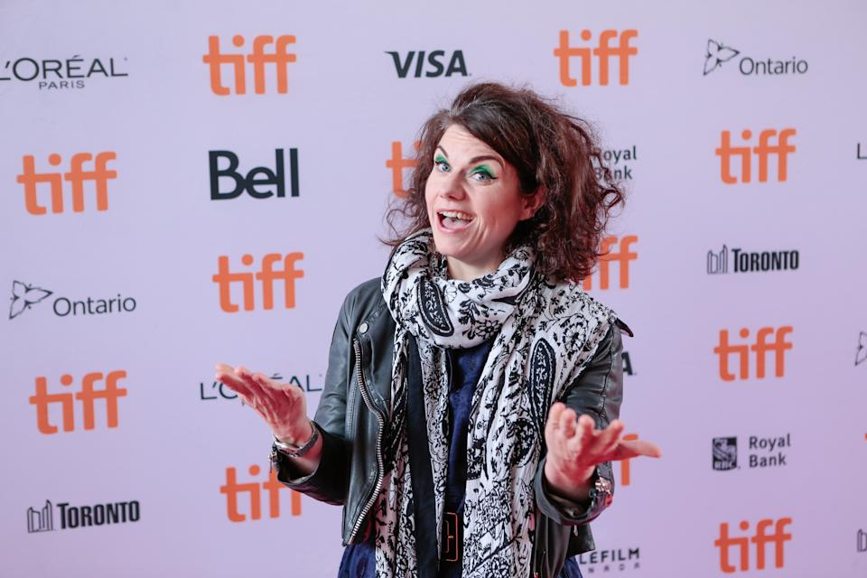 Writer, Caitlin Moran on the red carpet in Toronto for the gala presentation of the film 'How to build a girl' at the Ryerson Theatre Toronto. for the Toronto International Film Festival.