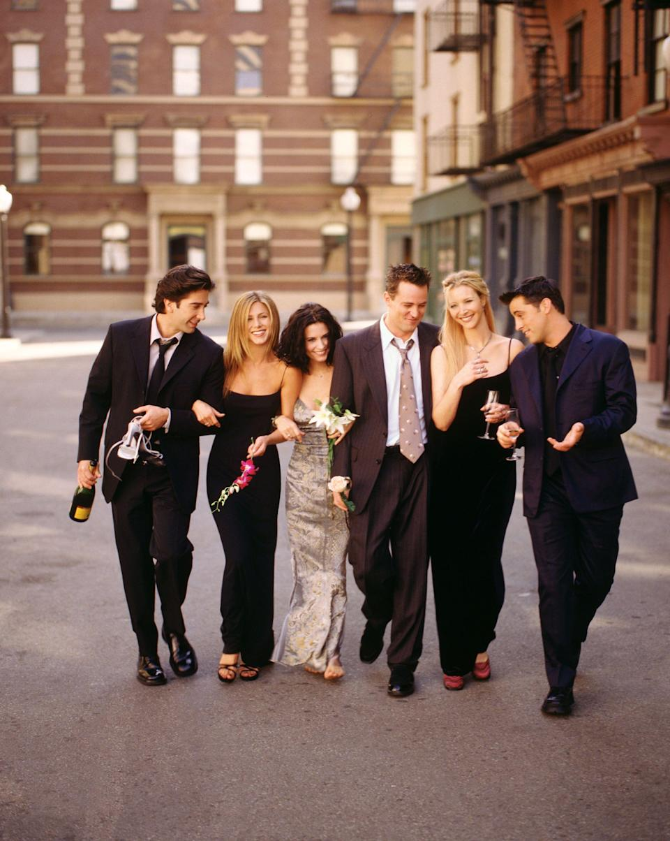 """<p>The NBC sitcom Friends, which aired for 10 seasons, dominated prime time and became a pop culture sensation though the '90s and beyond. After nearly two decades, the show's iconic cast has finally reunited. The new special, called Friends: The Reunion, is now available to watch on <a href=""""https://go.redirectingat.com?id=127X1599956&url=https%3A%2F%2Fwww.nowtv.com%2F&sref=https%3A%2F%2Fwww.harpersbazaar.com%2Fuk%2Fculture%2Fentertainment%2Fg36566034%2Ffriends-cast-then-now%2F"""" rel=""""nofollow noopener"""" target=""""_blank"""" data-ylk=""""slk:Now TV"""" class=""""link rapid-noclick-resp"""">Now TV</a>. </p><p>Directed by Ben Winston, the special sees cast members Jennifer Aniston, Courteney Cox, David Schwimmer, Matthew Perry, Lisa Kudrow, and Matt LeBlanc return to the original soundstage at Warner Bros. Studios, where they talk candidly and nostalgically about their experiences filming the sitcom that turned them all into household names. Among the intimate details revealed by the actors was the budding fling between Aniston and Schwimmer. """"We just channelled all of our adoration and love for each other into Ross and Rachel,"""" Aniston <a href=""""https://www.harpersbazaar.com/celebrity/latest/a36554931/jennifer-aniston-david-schwimmer-romance-friends/"""" rel=""""nofollow noopener"""" target=""""_blank"""" data-ylk=""""slk:shares"""" class=""""link rapid-noclick-resp"""">shares</a> in the special. <br></p><p>To join in on the nostalgia, scroll on to see the evolution of the show's beloved stars, from their first days on the series to what they've been up to since their breakthroughs on the show. <br></p>"""