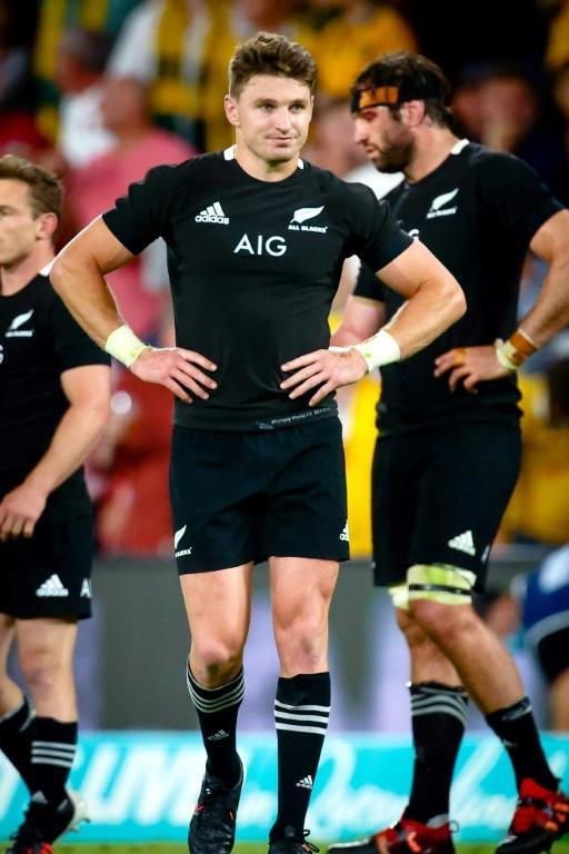 Defeat hurts: New Zealand fly-half Beauden Barrett shows his disappointment at the final whistle
