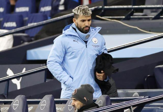 Aguero has spent a lot of time on the sidelines this season