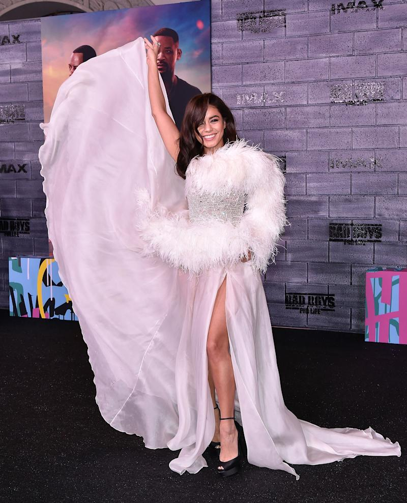 Vanessa Hudgens poses at the 'Bad Boys For Life' premiere