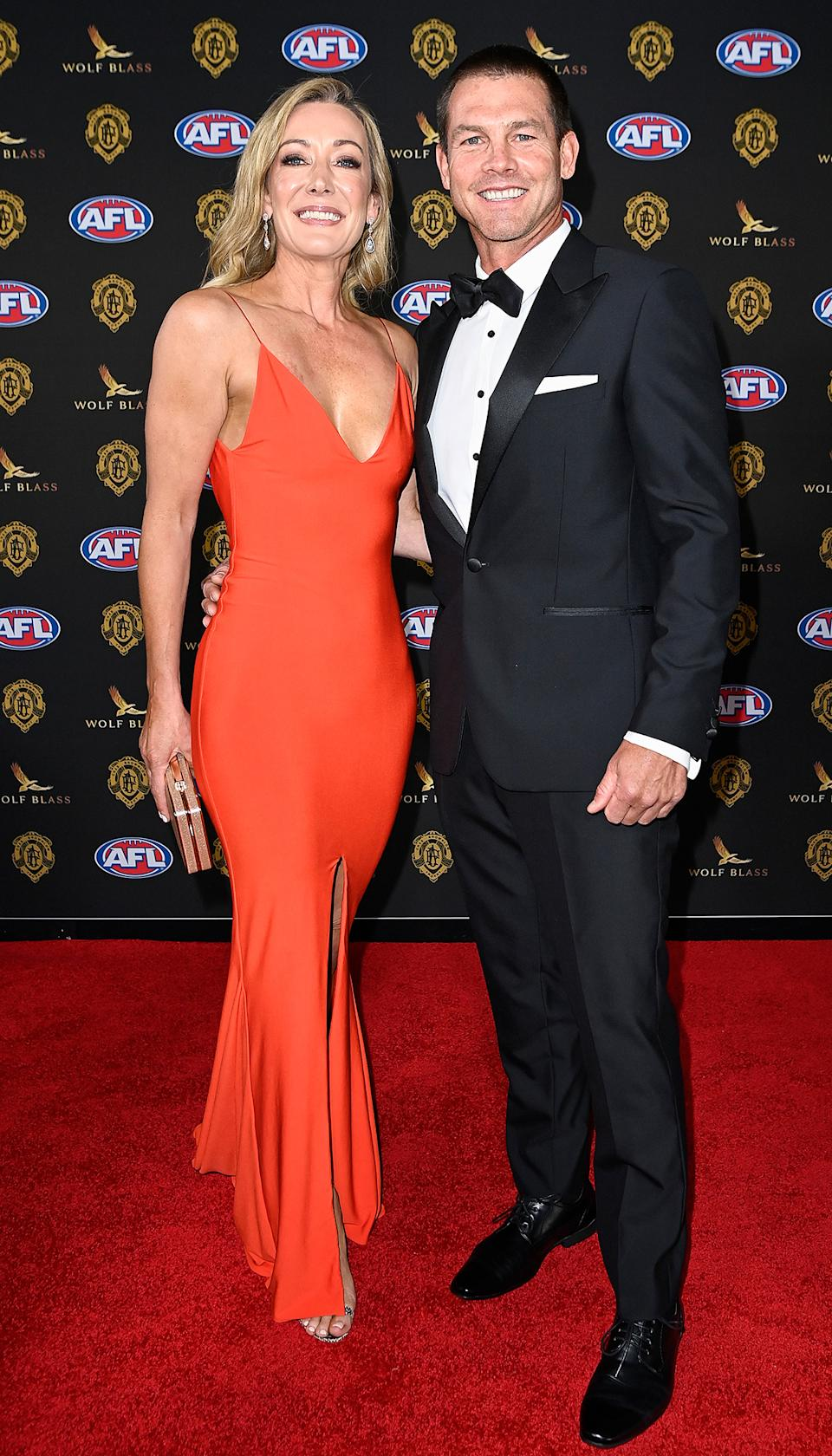 Ben Cousins arrives with Kelley Fergus at the Brownlow Medal 2021