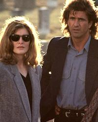 Rene Russo and Mel Gibson in 'Lethal Weapon 3' Everett Collection